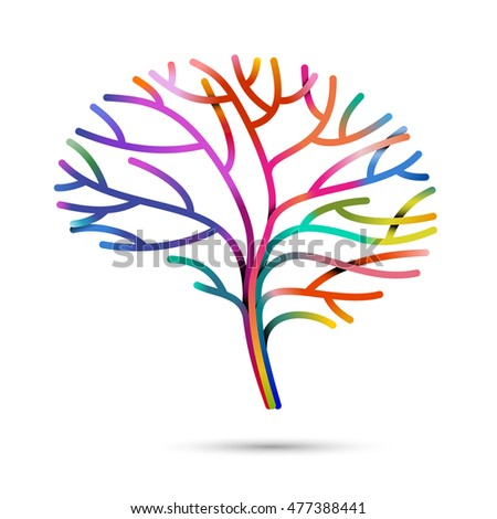 Multicolored brain, eps10 vector