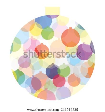 Multicolored Christmas ball - stock vector