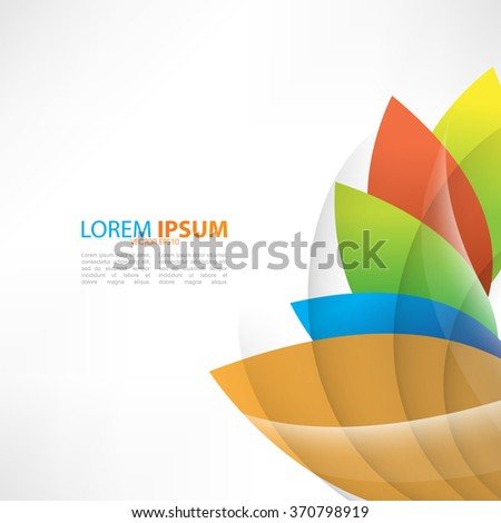 multicolored flat leaves vector design - stock vector
