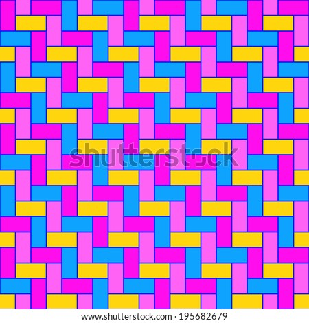 Multicolored herringbone tiles pattern - stock vector