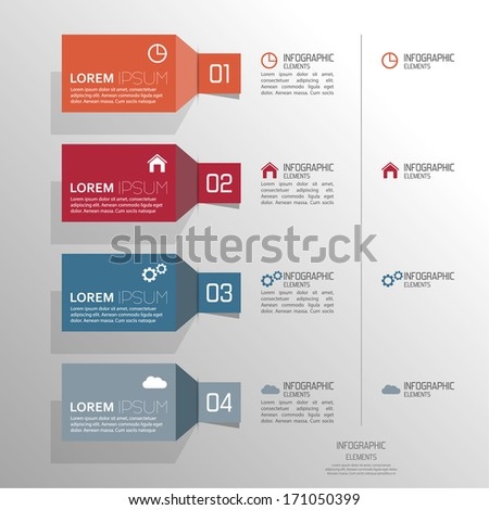 Multicolored paper stickers volume with numbers and signs.  for infographic, numbered banners,graphic or website layout vector, template for business reports.  - stock vector