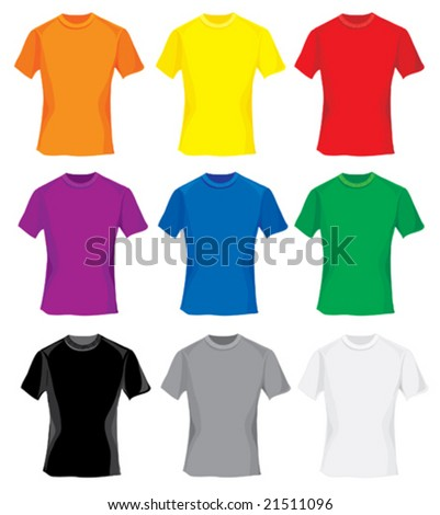 Multicolored samples for T-shirt design