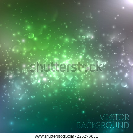 multicolored sparkling background with glowing sparkles and glitters. Shiny holiday illustration - stock vector