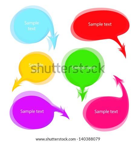 Multicolored speech bubbles vector set - stock vector