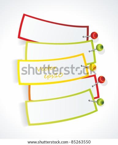Multicolored stickers. Vector - stock vector