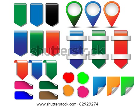 Multicolored stickers. vector Vector illustration. - stock vector