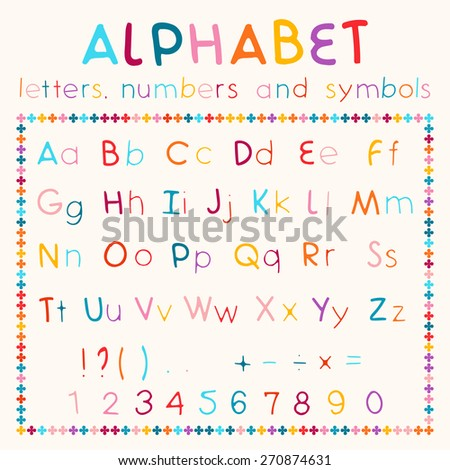 Alphabetic Fonts Numbers Stock Vector 207393076