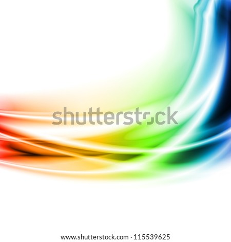 Multicolored waves on the white background. Vector design eps 10 - stock vector