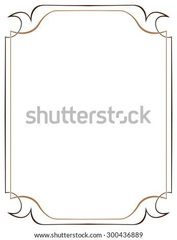 Multilayer vector frame on a white background - stock vector