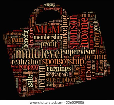 Multilevel Marketing Tag Cloud    - vector illustration