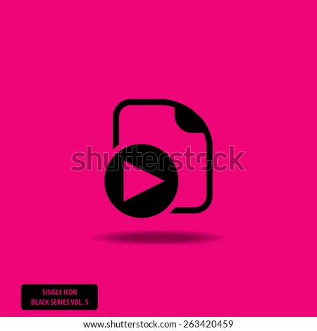 Multimedia Document Icon - Single Icon Series vol. 5 - stock vector