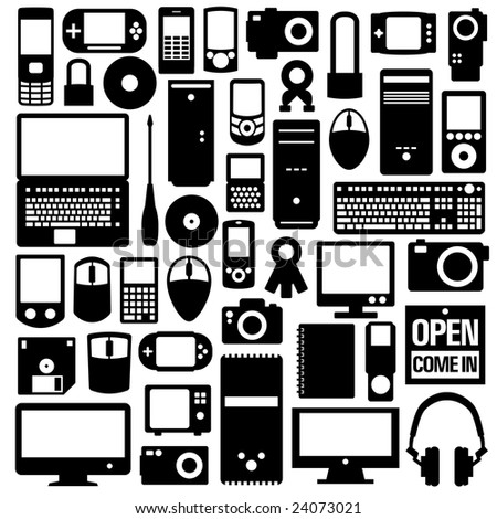 Multimedia Gadgets - stock vector