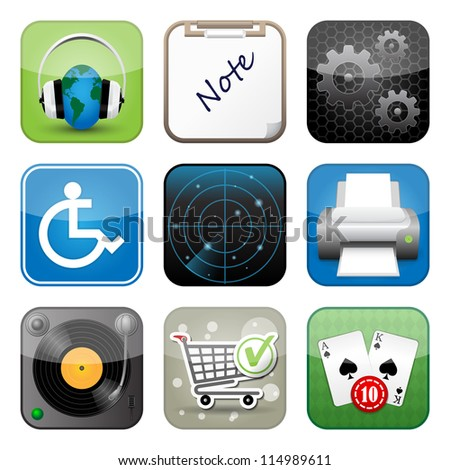 Multimedia icons. Highly detailed vector Icons for Web and Mobile Applications - stock vector