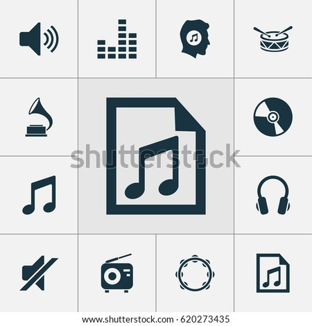 Music Sound Icons Mono Vector Symbols Stock Vector 217618582 ...