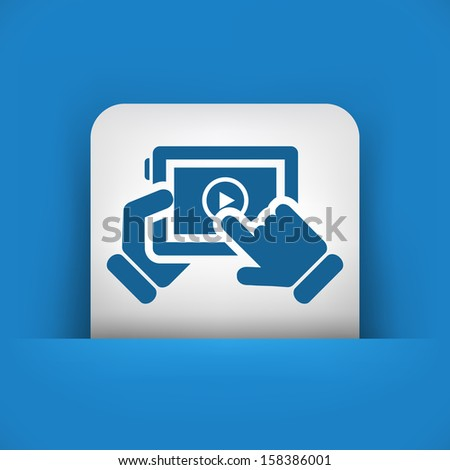 Multimedia player icon - stock vector