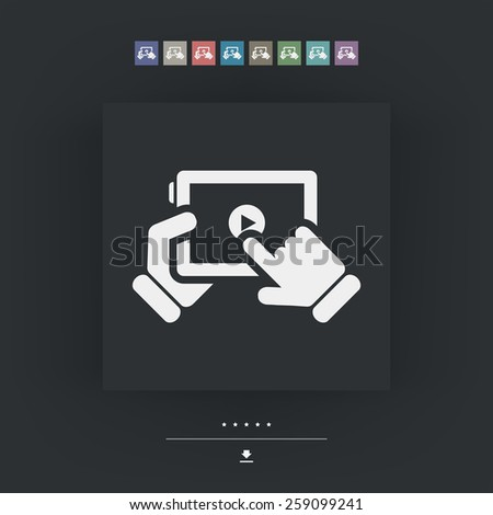 Multimedia player icon - stock vector