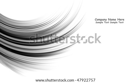 Multiple vector abstract black lines