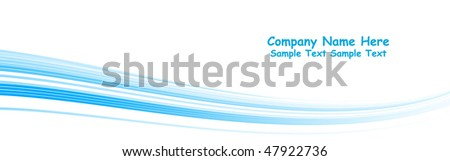 Multiple vector abstract blue lines - stock vector