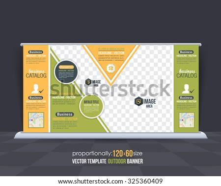 Multipurpose Business Theme Outdoor Banner Design, Advertising Vector Template  - stock vector