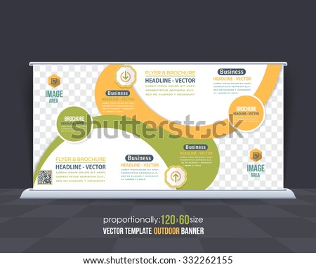 Multipurpose Business Theme Outdoor Banner Template, Advertising Design - stock vector
