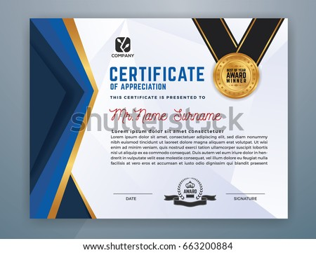 Multipurpose modern professional certificate template design stock multipurpose modern professional certificate template design for print vector illustration yelopaper Gallery