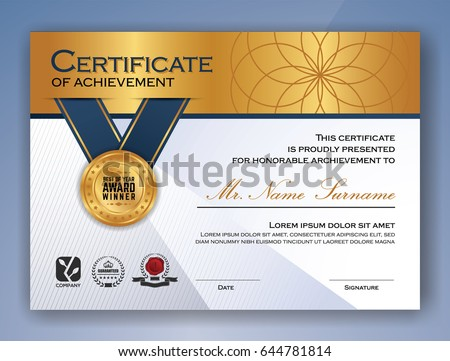 Multipurpose professional certificate template design print stock multipurpose professional certificate template design print stock vector 644781814 shutterstock yadclub Image collections