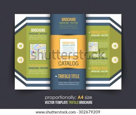 Multipurpose Tri-fold Brochure and Catalog Vector Design - stock vector