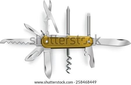 multipurpose vector illustration of knife - stock vector