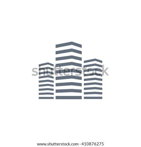 multistory building icon - stock vector