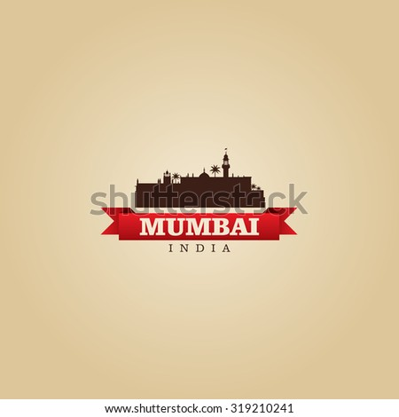 Mumbai India city symbol vector illustration - stock vector