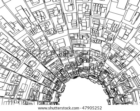 Illustrated Map Housing Generic Town Stock Illustration