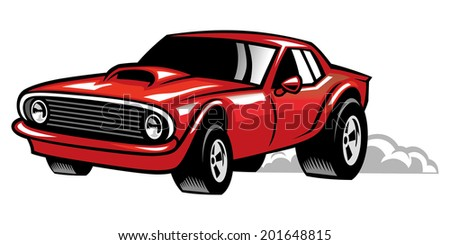 muscle car - stock vector