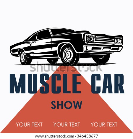 Muscle Car Poster Background Vector Stock Vector