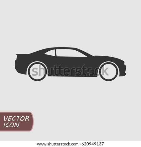 Muscle Car Vector Icon Vectores En Stock 620949137 - Shutterstock