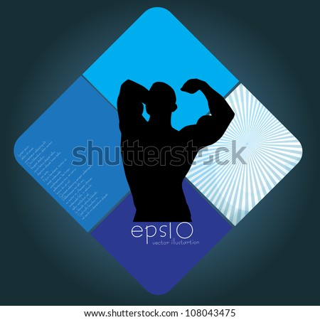 Muscle man - stock vector