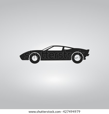 Sport Car Flat Icon Stock Vector Shutterstock