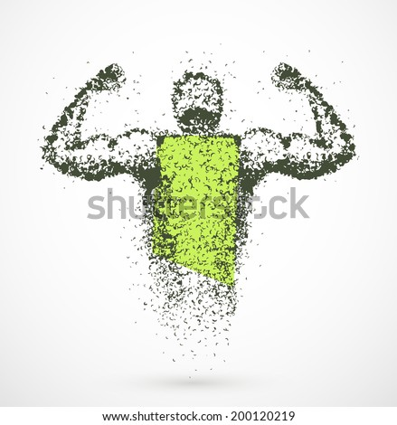 Muscular abstract man, eps 10 - stock vector