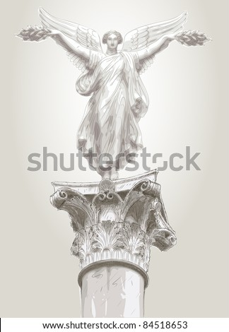 muse statue - stock vector
