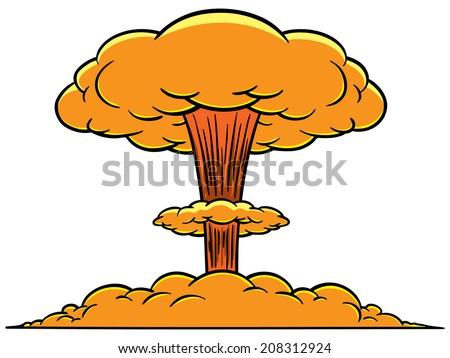 mushroom cloud stock photo photo vector illustration 208312924 rh shutterstock com cartoon style mushroom cloud mushroom cloud explosion cartoon
