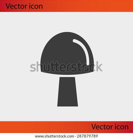 mushroom icon - stock vector