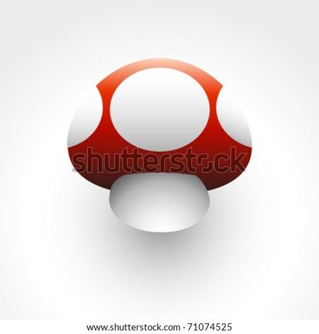 mushroom vector icon - stock vector