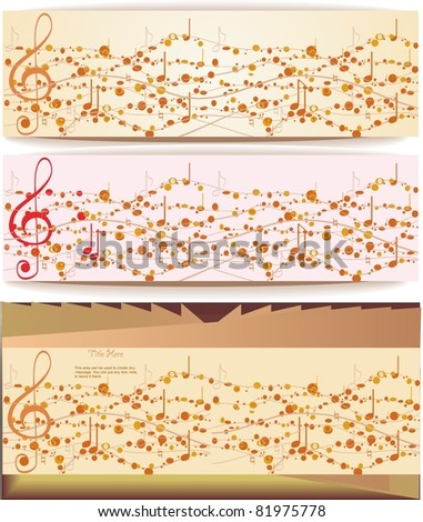 Music abstract background.