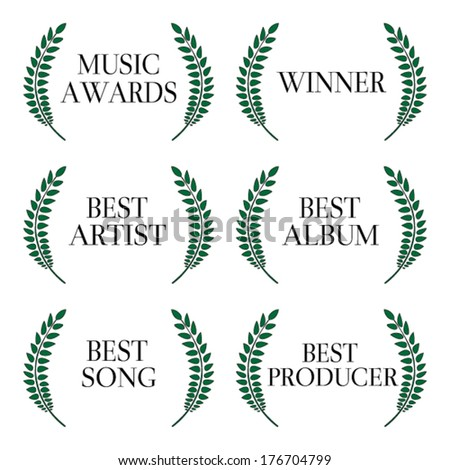 Music Awards Winners 1 - stock vector