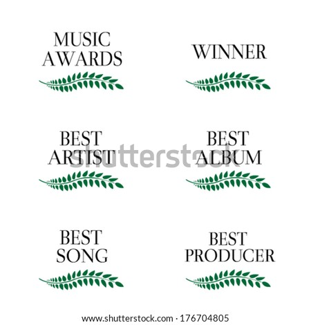 Music Awards Winners 3 - stock vector