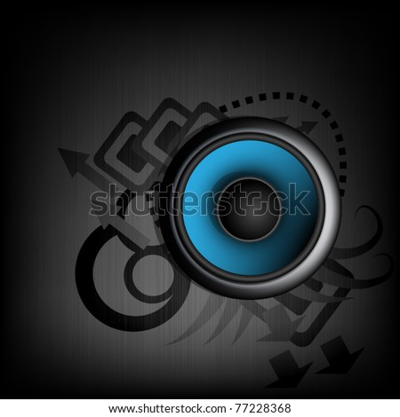 Music background  - abstract theme with speaker - stock vector