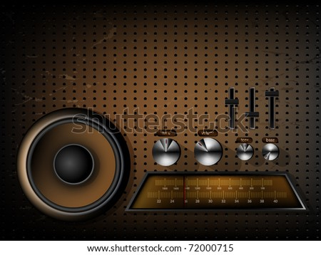 Music background - old style - stock vector