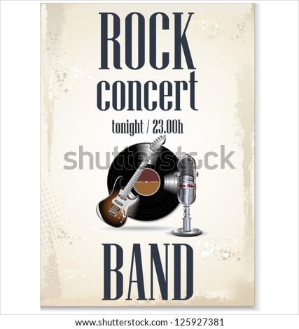Music background - rock concert - stock vector