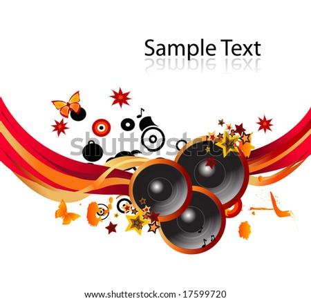 Music background. To see more MUSIC backgrounds, please VISIT MY GALLERY - stock vector