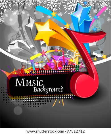 Music background vector, Illustration - stock vector