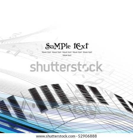 Music background with different notes - stock vector